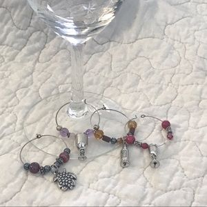 Other - 💎 Set Of 4 Wine Glass Charms
